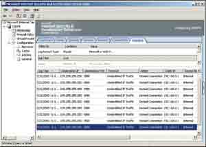 Traffic monitoring with ISA Server 2004