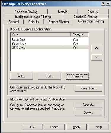 Message Delivery Properties dialog