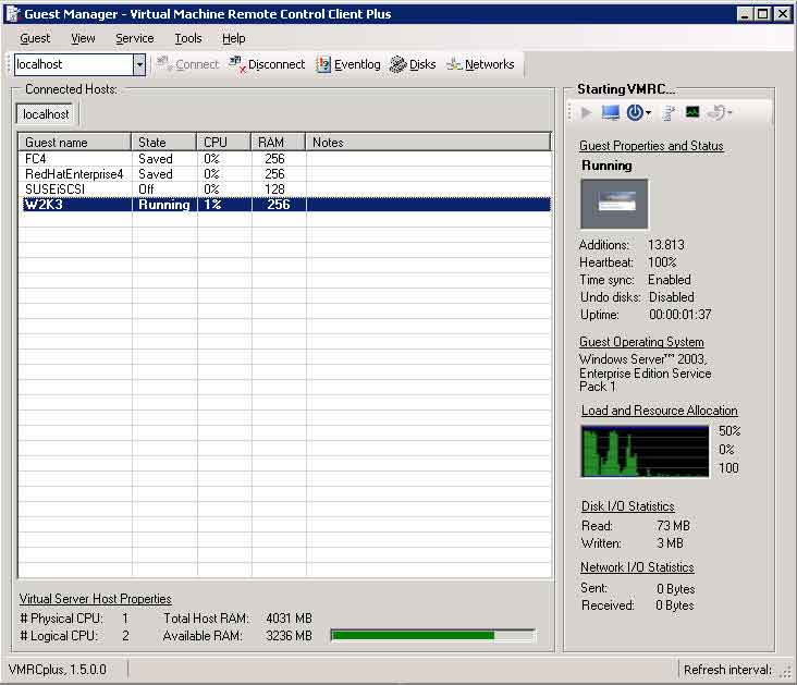VMRCplus user interface