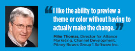 Mike Thomas, Director for Alliance Marketing, Channel Development, Pitney Bowes Group 1 Software Inc.