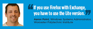 Aaron Foint, Windows Systems Administrator, Worcester Polytechnic Institute