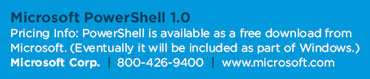 Microsoft PowerShell 1.0