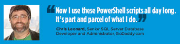 Chris Leonard, Senior SQL Server Database Developer and Administrator, GoDaddy.com