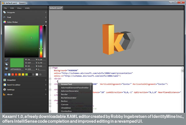 Developer Product Brief: Kaxaml 1.0