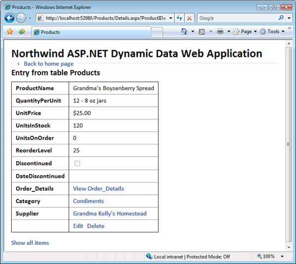 Generate Web Sites Automatically: Figure 4: Display Data in Dynamic DetailViews or Custom FormViews.