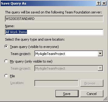 Working with Work Item Queries: Figure 5