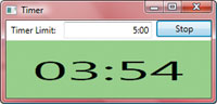 Use Lambda Expressions for Abstract Delegates: FIGURE 1:  WPF Timer Application Running