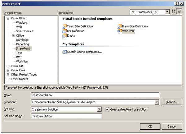 Build and Debug Web Parts with SharePoint Extensions: Figure 2: SharePoint Project Template